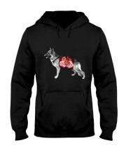 Flower and German Shepherd Hooded Sweatshirt thumbnail