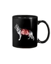 Flower and German Shepherd Mug thumbnail