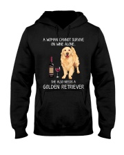 Wine and Golden Retriever Hooded Sweatshirt thumbnail
