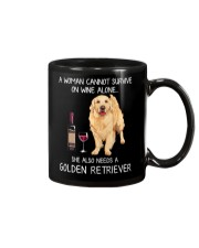 Wine and Golden Retriever Mug tile
