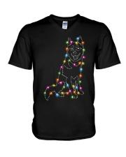 Christmas Light Husky V-Neck T-Shirt thumbnail