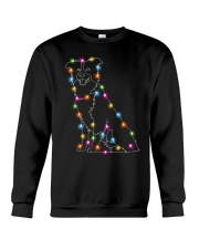 Christmas Light Border Collie Crewneck Sweatshirt thumbnail