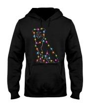 Christmas Light Border Collie Hooded Sweatshirt thumbnail