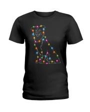 Christmas Light Border Collie Ladies T-Shirt thumbnail