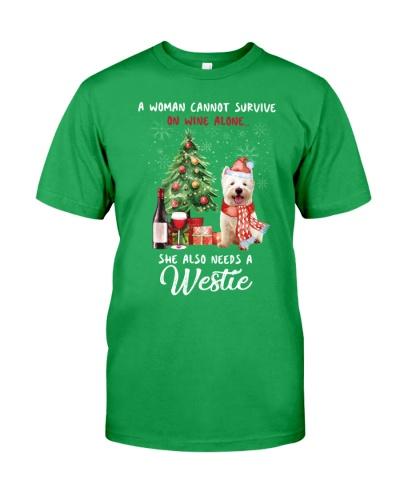 Christmas Wine and Westie