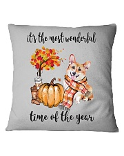 The Most Wonderful Time - Corgi Square Pillowcase thumbnail