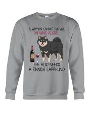 Wine and Finnish Lapphund 2 Crewneck Sweatshirt thumbnail