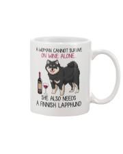 Wine and Finnish Lapphund 2 Mug thumbnail