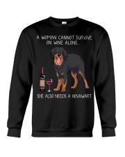 Wine and Hovawart Crewneck Sweatshirt thumbnail