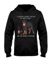 Wine and Hovawart Hooded Sweatshirt thumbnail