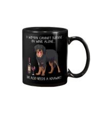 Wine and Hovawart Mug thumbnail