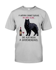 Wine and Groenendael 2 Classic T-Shirt front
