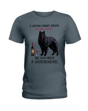 Wine and Groenendael 2 Ladies T-Shirt thumbnail