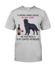 Wine and Flat-Coated Retriever 2 Classic T-Shirt front