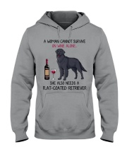 Wine and Flat-Coated Retriever 2 Hooded Sweatshirt thumbnail