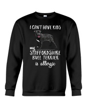 My Staffordshire Bull Terrier is Allergic Crewneck Sweatshirt thumbnail