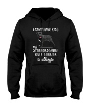 My Staffordshire Bull Terrier is Allergic Hooded Sweatshirt thumbnail