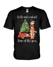 The Most Wonderful Xmas - German Shepherd V-Neck T-Shirt thumbnail
