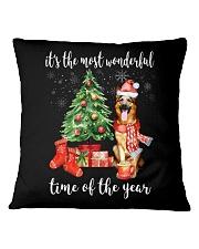 The Most Wonderful Xmas - German Shepherd Square Pillowcase thumbnail