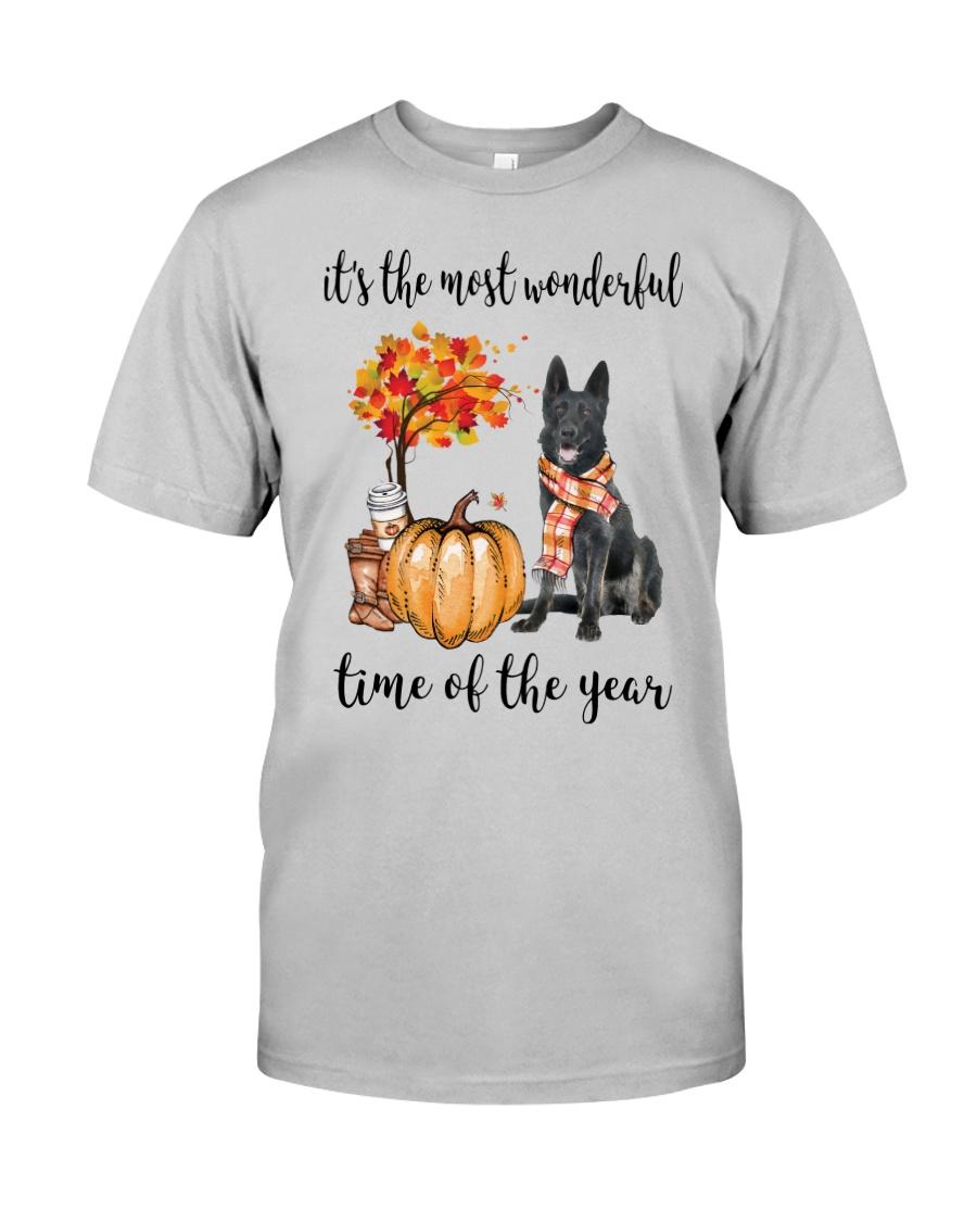 The Most Wonderful Time - Black German Shepherd Classic T-Shirt