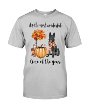 The Most Wonderful Time - Black German Shepherd Classic T-Shirt front