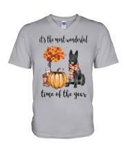 The Most Wonderful Time - Black German Shepherd V-Neck T-Shirt thumbnail