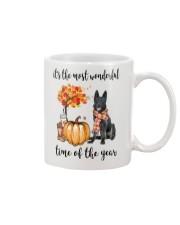 The Most Wonderful Time - Black German Shepherd Mug thumbnail