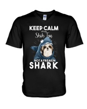 It's A Shih Tzu Not A Freakin Shark V-Neck T-Shirt thumbnail