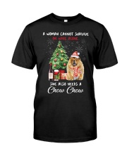 Christmas Wine and Chow Chow Classic T-Shirt thumbnail