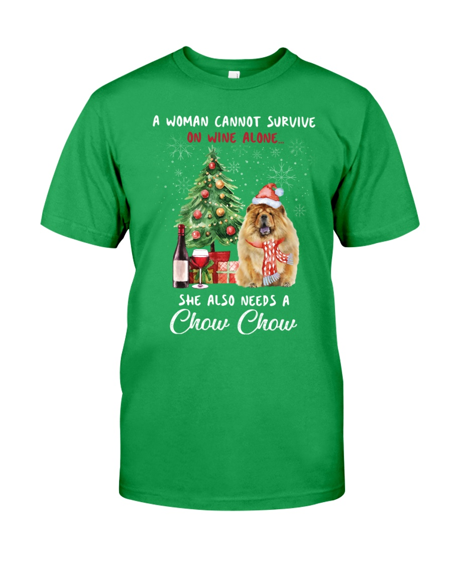 Christmas Wine and Chow Chow Classic T-Shirt