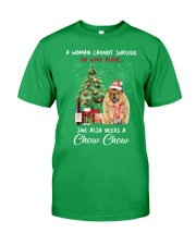 Christmas Wine and Chow Chow Classic T-Shirt front