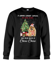 Christmas Wine and Chow Chow Crewneck Sweatshirt thumbnail