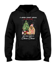 Christmas Wine and Chow Chow Hooded Sweatshirt thumbnail
