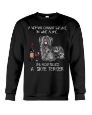 Wine and Skye Terrier Crewneck Sweatshirt thumbnail