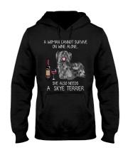Wine and Skye Terrier Hooded Sweatshirt thumbnail