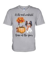 The Most Wonderful Time - Papillon V-Neck T-Shirt thumbnail