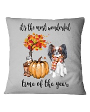 The Most Wonderful Time - Papillon Square Pillowcase thumbnail