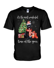 The Most Wonderful Xmas - Staffie V-Neck T-Shirt thumbnail