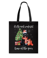 The Most Wonderful Xmas - Staffie Tote Bag thumbnail