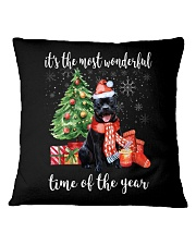 The Most Wonderful Xmas - Staffie Square Pillowcase thumbnail