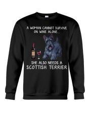 Wine and Scottish Terrier Crewneck Sweatshirt thumbnail