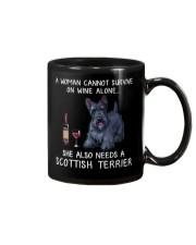 Wine and Scottish Terrier Mug thumbnail