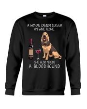 Wine and Bloodhound Crewneck Sweatshirt thumbnail