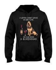 Wine and Bloodhound Hooded Sweatshirt thumbnail