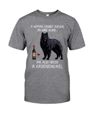 Wine and Groenendael Classic T-Shirt front