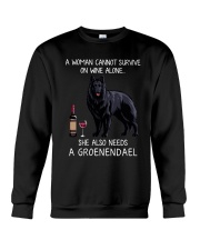 Wine and Groenendael Crewneck Sweatshirt thumbnail