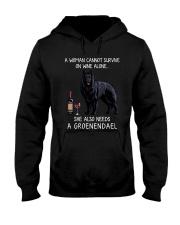 Wine and Groenendael Hooded Sweatshirt thumbnail
