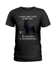 Wine and Groenendael Ladies T-Shirt thumbnail