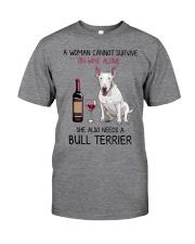 Wine and Bull Terrier 2 Classic T-Shirt thumbnail
