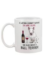 Wine and Bull Terrier 2 Mug back